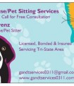 House Sitter - Owner/ House/Pet Sitter
